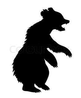 263x320 Bear Silhouette Pattern Free Silhouette Bear Isolated On White