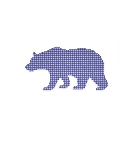 487x493 Bear Cross Stitch Pattern Bear Silhouette Nursery Adventure Jungle