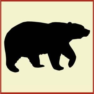 300x300 Bear Stencil Silhouettes Stenciling, Bears