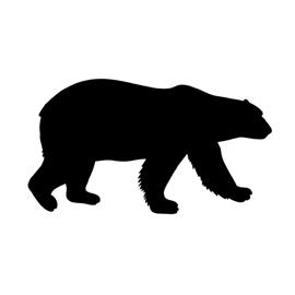 270x270 Polar Bear Silhouette Stencil Free Stencil Gallery