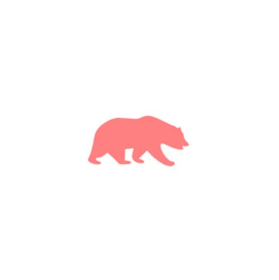 570x572 Bear Cookie Stencil, Bear Silhouette Cookie Stencil, Buffalo Plaid