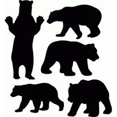 236x236 Bear Silhouette Stencil