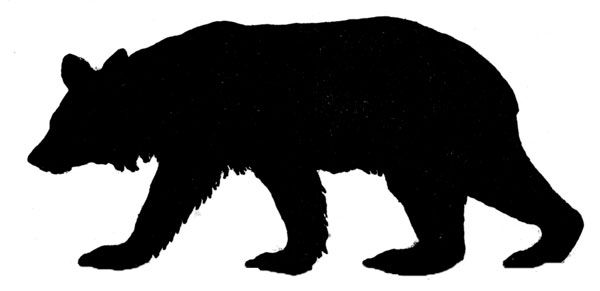 600x291 Bear Silhouette Silhouettes Bear Silhouette