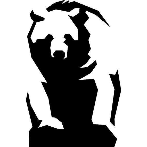 570x570 Grizzly Bear Silhouettes