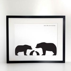300x300 Bear Silhouette Family Portrait, Build Your Own Artistic