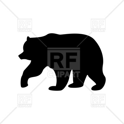 400x400 Bear Black Color Icon Royalty Free Vector Clip Art Image