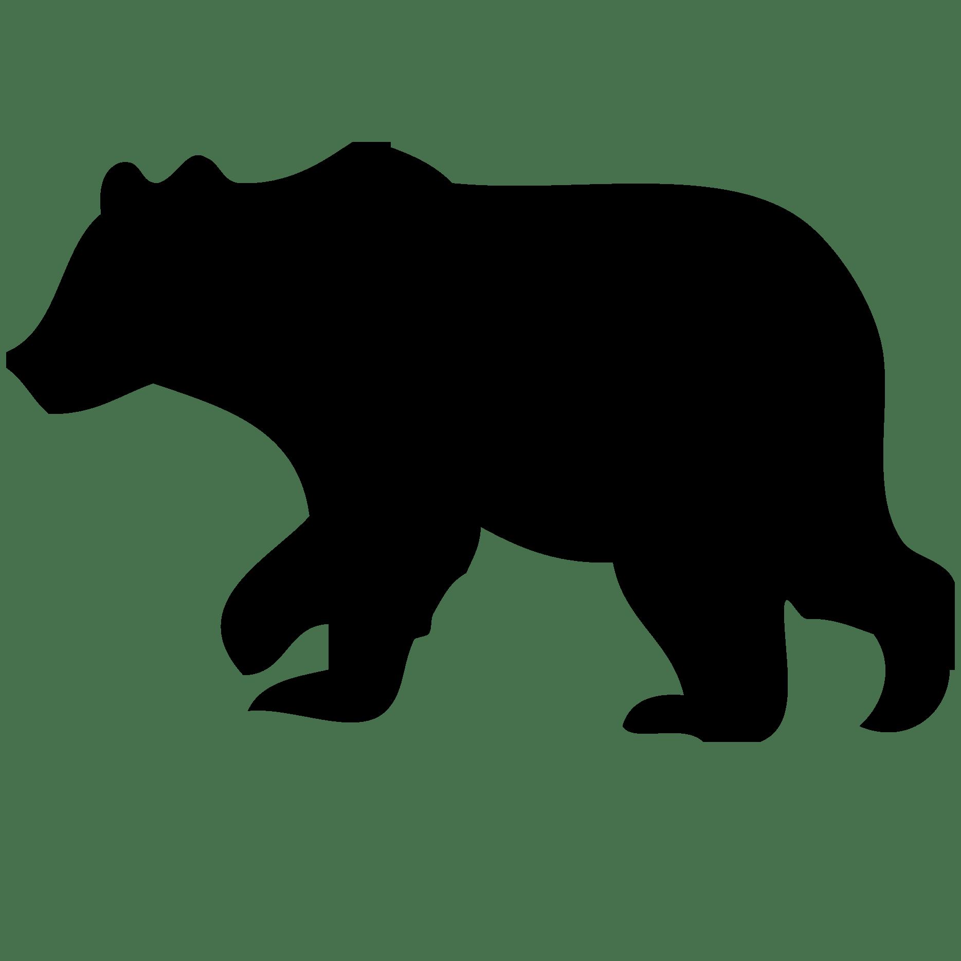 1869x1869 Bear Cub Silhouette Clip Art