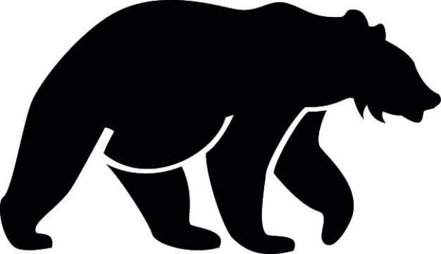 626x360 Bear Side Silhouette Vector Free Download