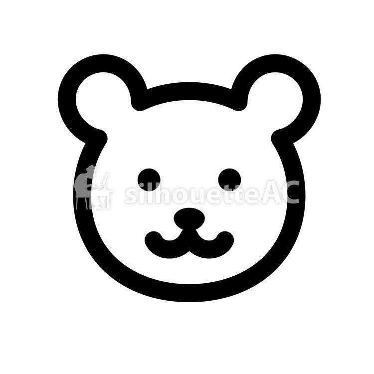 750x750 Free Silhouette Vector Animal, Bear, Face