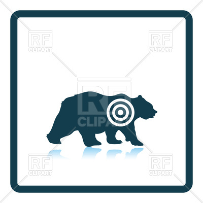 400x400 Icon Of Bear Silhouette With Target