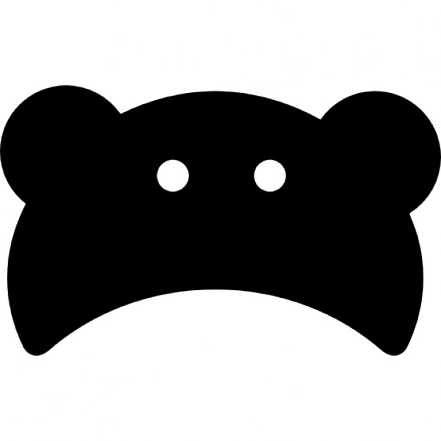 626x626 Baby Bear Head Silhouette Icons Free Download
