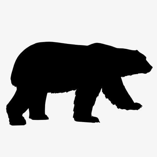 512x512 Bear Silhouette, Animal, Projection, Black Silhouette Png Image