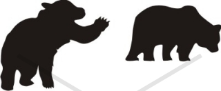 320x132 Bear Silhouette Attack Walking