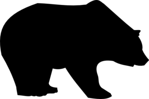 298x198 Bear Silhouette Clip Art