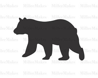 340x270 Black Bear Svg Etsy