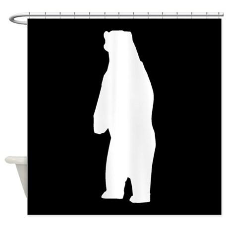 460x460 Standing Bear Shower Curtains
