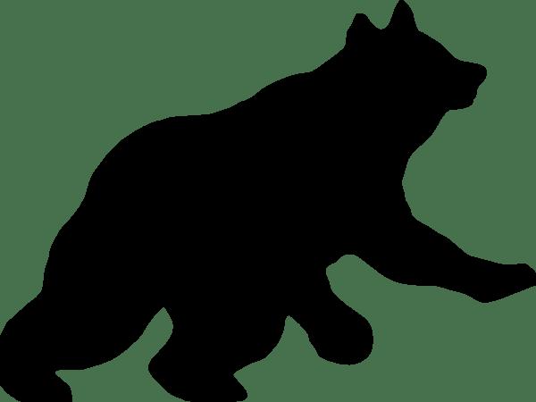 600x450 Standing Bear Silhouette Clip Art