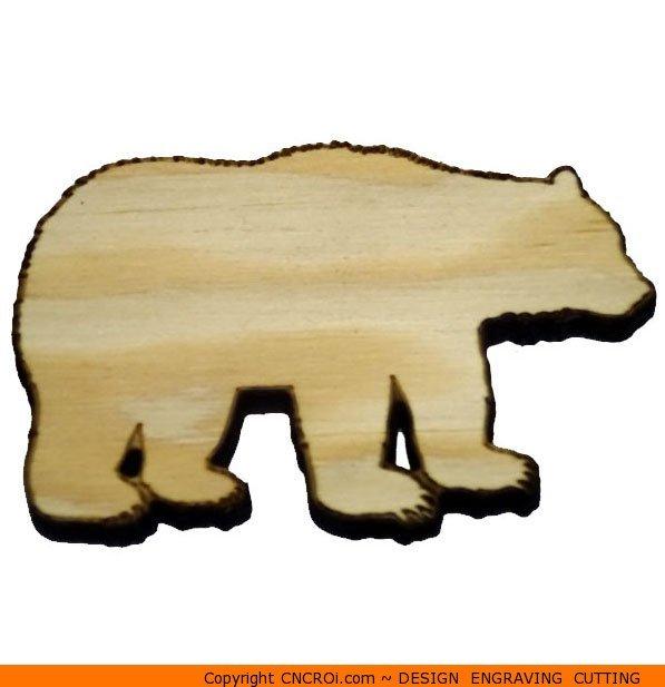 597x617 Bear Standing Shape (0001)