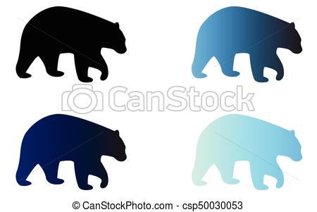 450x301 Four Silhouettes Of Logo Bears. Four Silhouettes Of Bears
