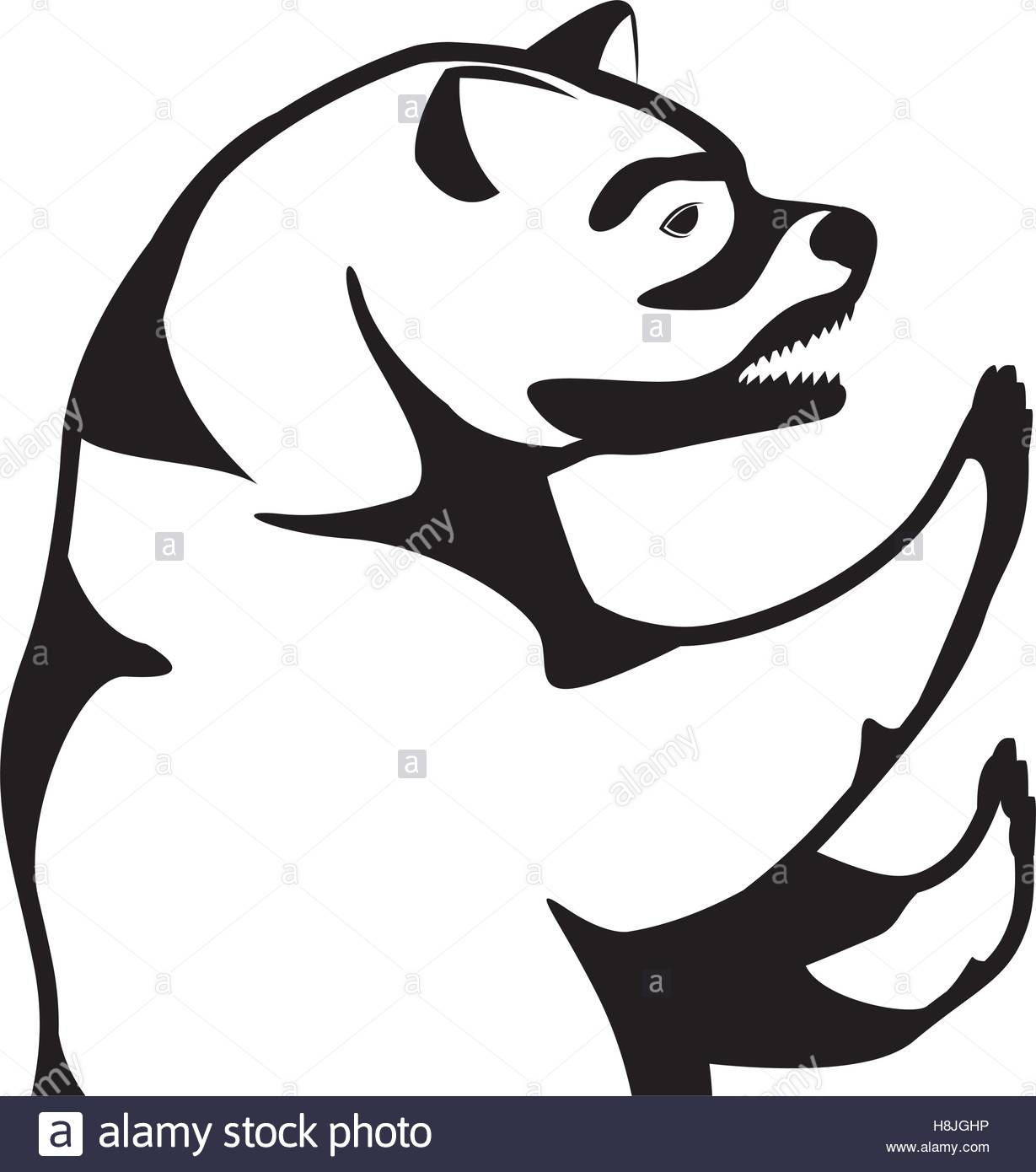 1229x1390 Monochrome Silhouette With Half Body Bear Vector Illustration