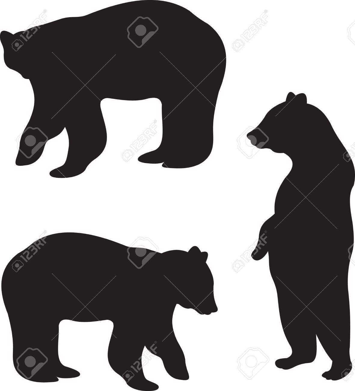 1181x1300 Roaring Bear Standing Graphic