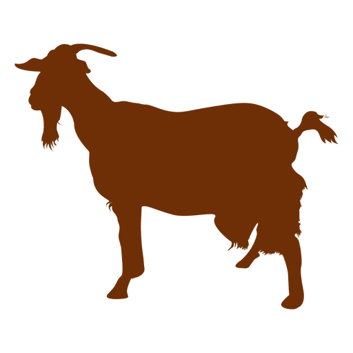 512x512 Goat With Beard Silhouette