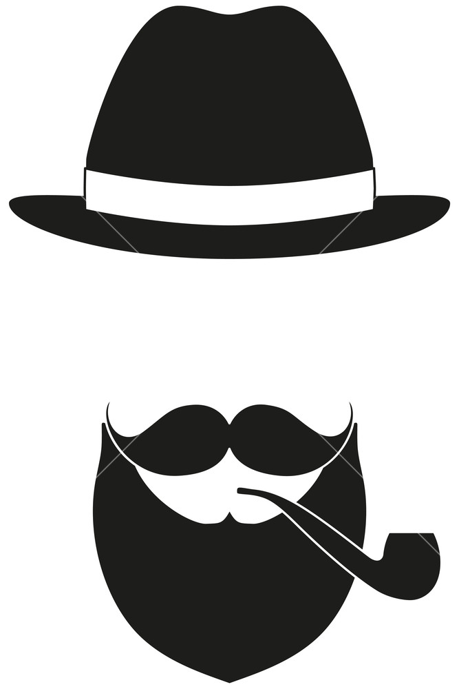 667x1000 Icon Poster Man Father Dad Day Avatar Elements Set Hat Mustache