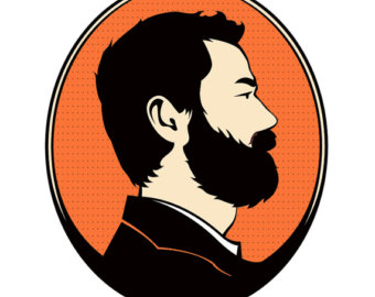 340x270 Man With Beard Clipart Silhouette Profile Clipartfox