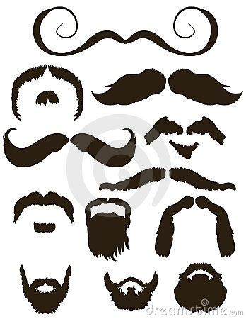 348x450 Set Of Mustache And Beard Silhouettes Beard Me