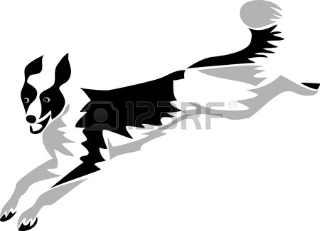 450x324 Bearded Collie Clipart Silhouette