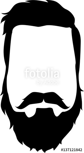 277x500 Beard An Mustache Vector Silhouette Stock Image And Royalty Free