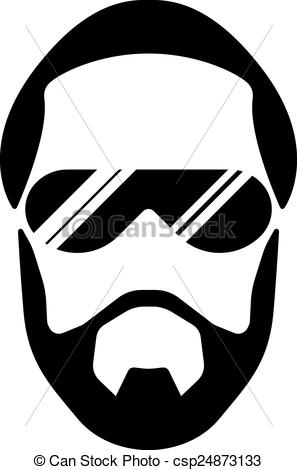 297x470 Bearded Young Man. Bearded Man Silhouette Illustration