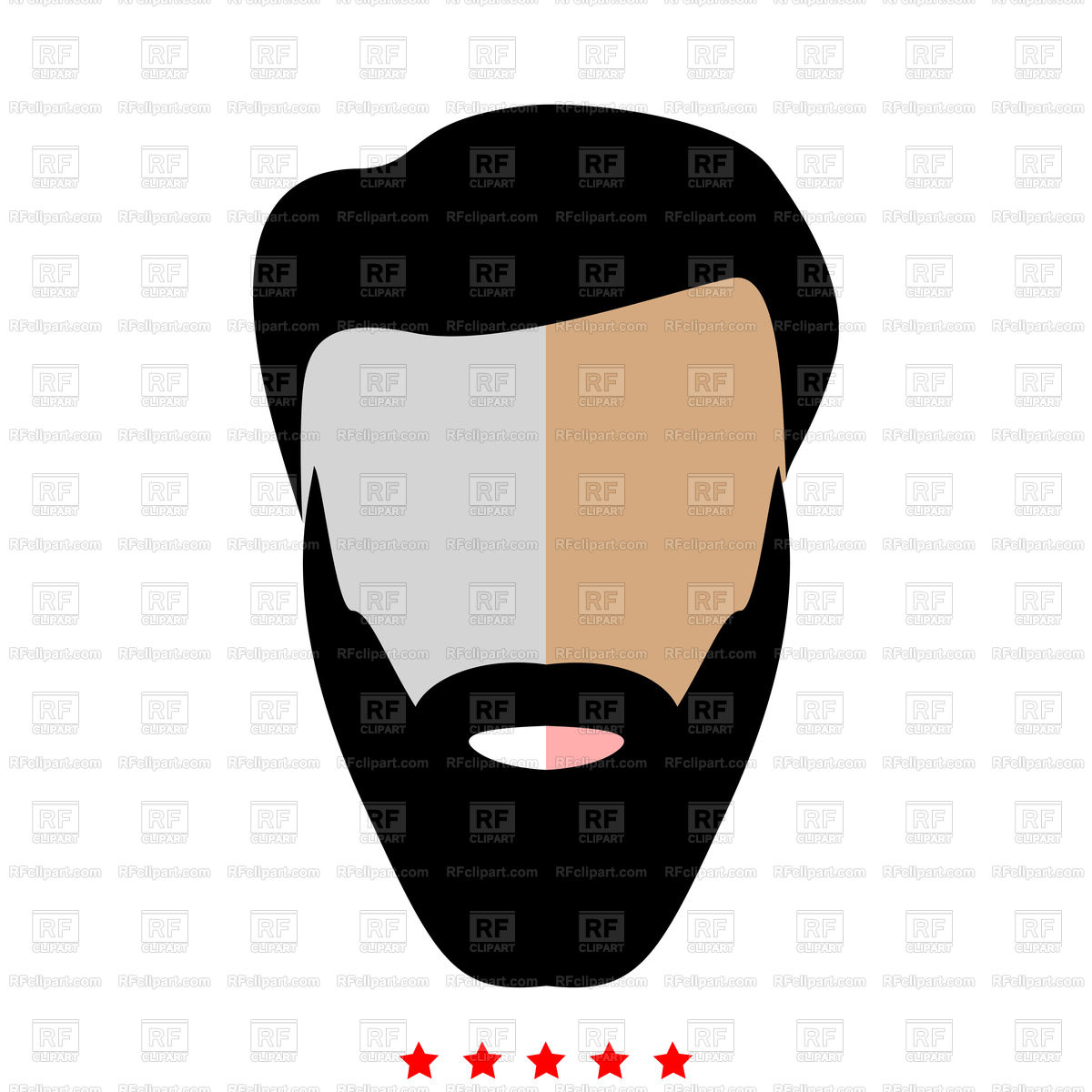 1200x1200 Head With Beard And Hair Icon Flat Style Royalty Free Vector Clip
