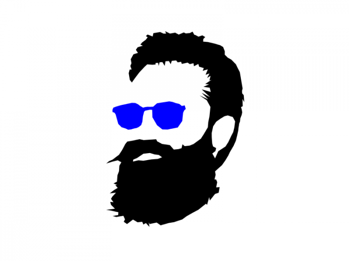 700x525 8 Hipster Beard Glasses Silhouette Vector