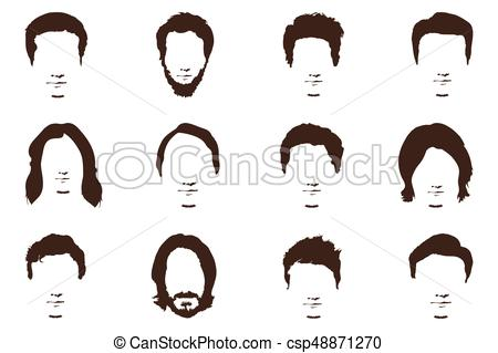 450x319 Men's Fashion, Silhouette, Style, Set Of Beards, Vector Vectors