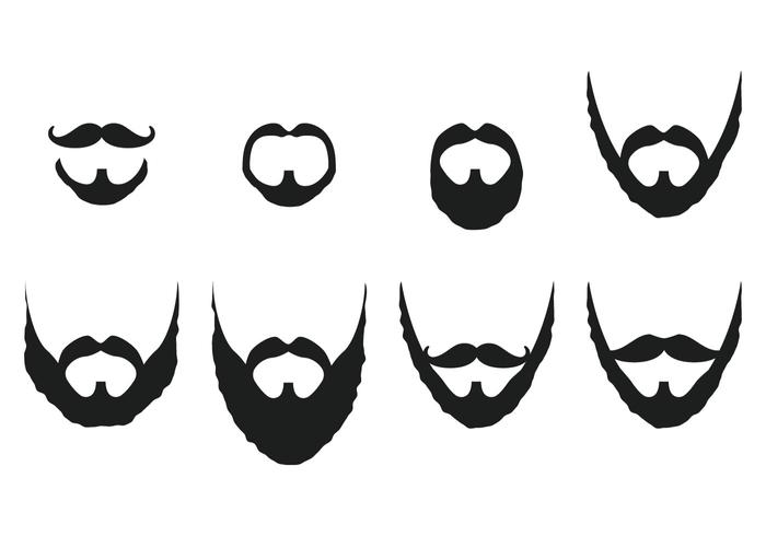 700x490 Mustache And Beard Vectors