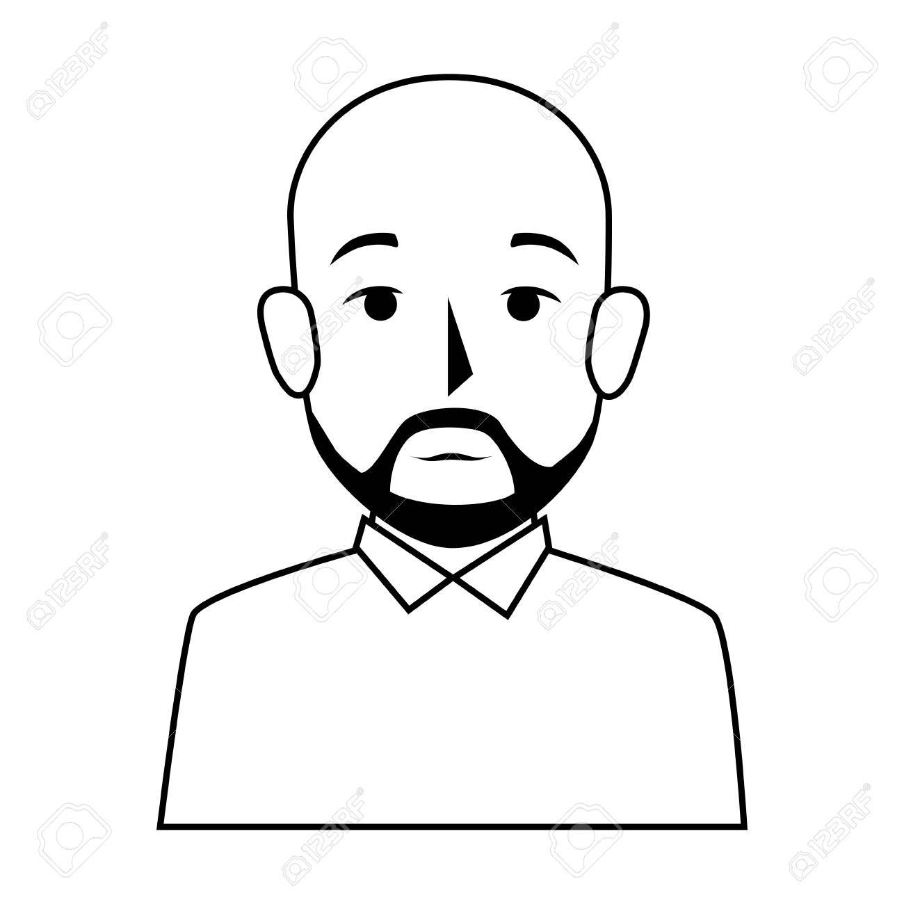 Bearded Man Silhouette
