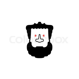 320x320 Male Face Profile Design. Head Silhouette. Human Face Portrait