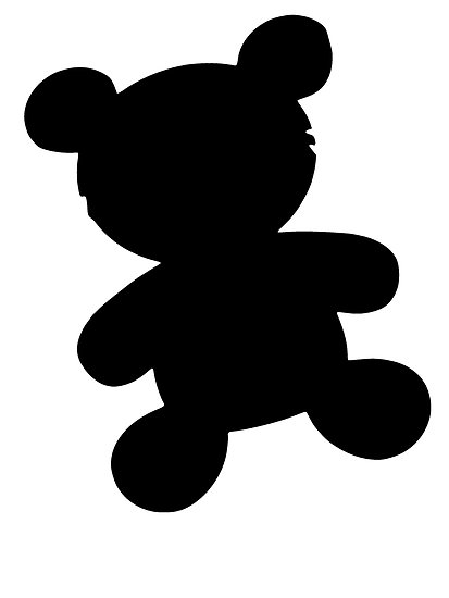 413x550 Teddy Bear Silhouette Clip Art