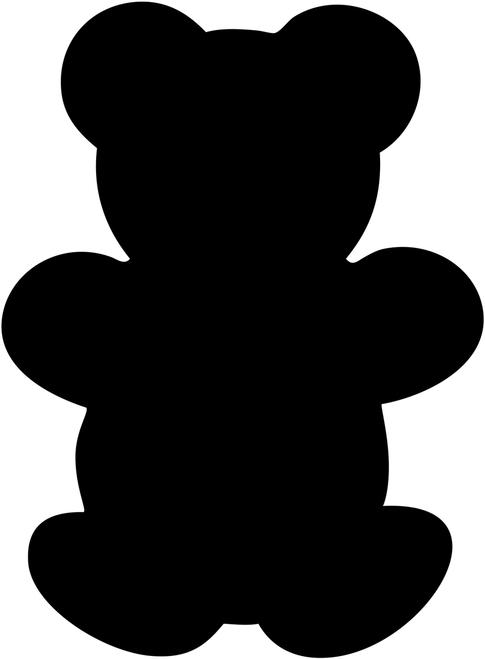 485x659 Teddy Bear Clipart Silhouette