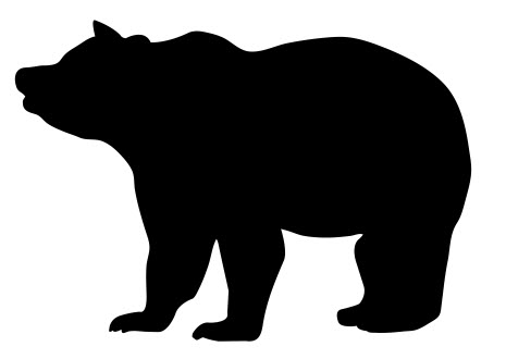 465x330 Bear Silhouette Dxf File Free Download