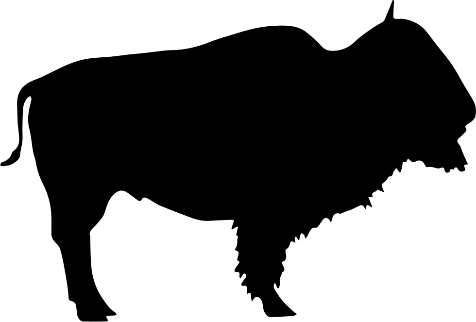 980x663 Buffalo Wild Beast Silhouette Svg Png Icon Free Download ( 74164