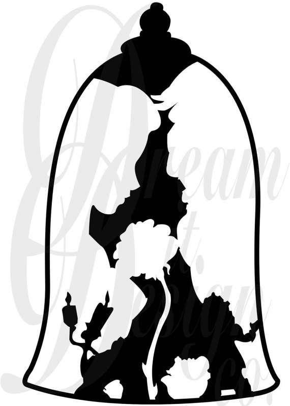 570x798 Disney Beauty And The Beast Design For Silhouette Studio Cut