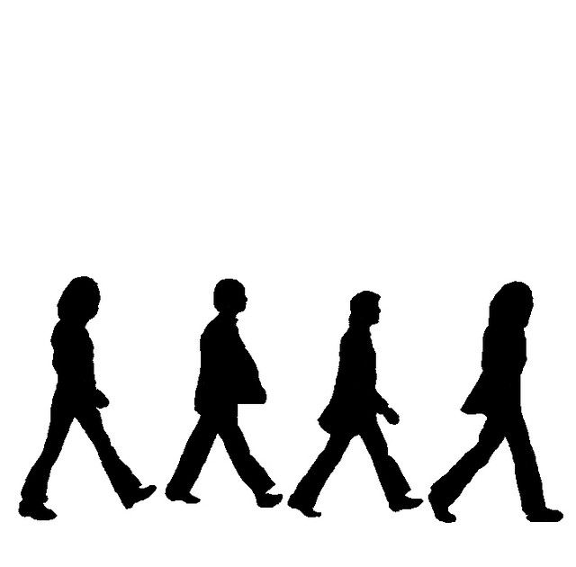 640x630 Beatles Silhouettes Beatles, Silhouette And Beatles Party