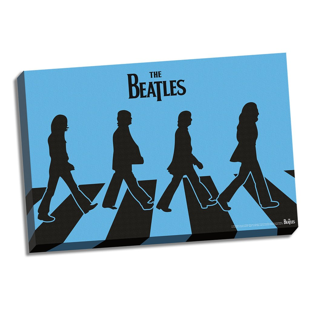 1024x1024 Blue Silhouette Abbey Road Canvas The Beatles