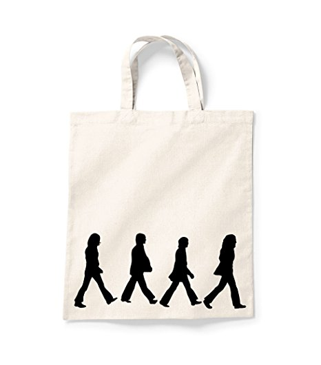 466x530 The Beatles Abbey Road Shopper Bag Canvas Tote Shopping Bag Cotton