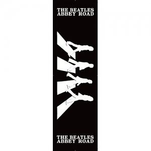 300x300 The Beatles Card Bookmark Abbey Road Black White Silhouette Fan