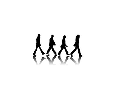 400x300 Abbey Road Black And White The Beatles 1024x768 Wallpaper