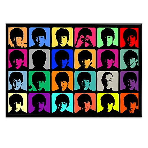 500x500 Print Avenues Pl0234 The Beatles Color Silhouette Framed Poster By