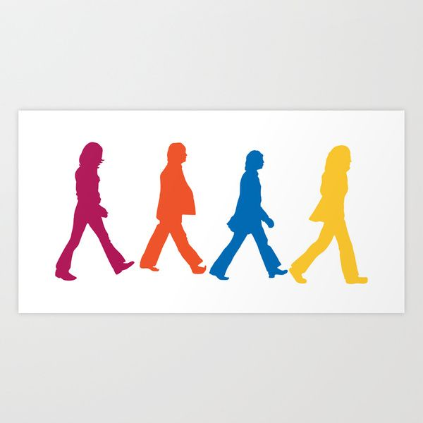 600x600 The Beatles Art Print Beatlemania